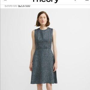 THEORY Tespa O Blue Multi Petite Grid Dress NWT